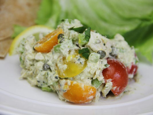 Food Healthy Lemon Pesto Chicken Salad