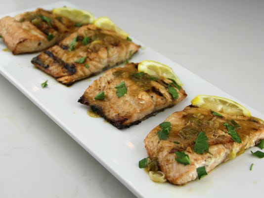 Food Healthy Plate Pineapple Marinated Salmon