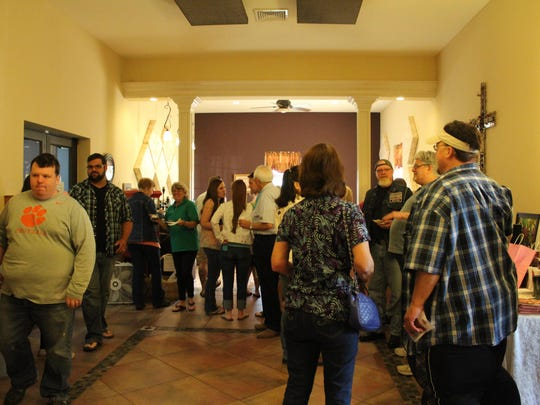 Guests mingled in the lobby during intermission and enjoyed some of the donated desserts.