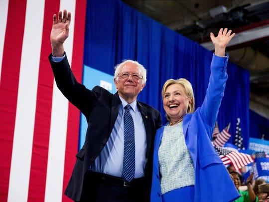 Hillary Clinton,Bernie Sanders