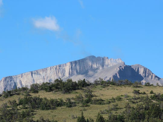 Ear Mountain, a distinctive point along the Rocky Mountain Front, was a popular spot for vision quests.