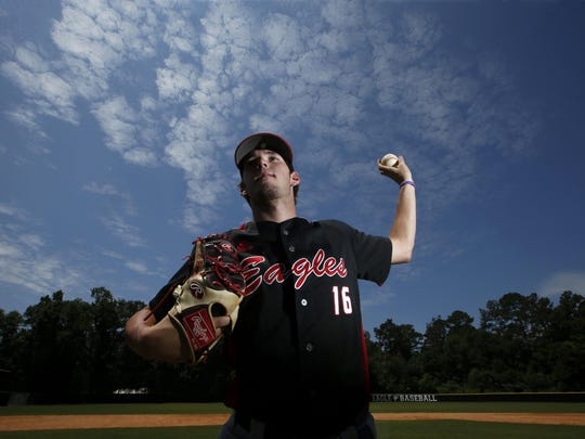 North Florida Christian senior Cole Ragans is the 2016 All-Big Bend Pitcher of the Year after going 9-2 with a 0.90 ERA and 104 strikeouts in 70 innings pitched.