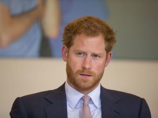 CORRECTION Britain Prince Harry