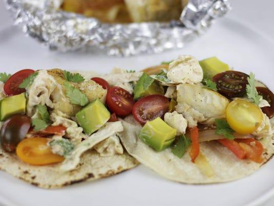 Food Healthy Foil Pack Fish Tacos