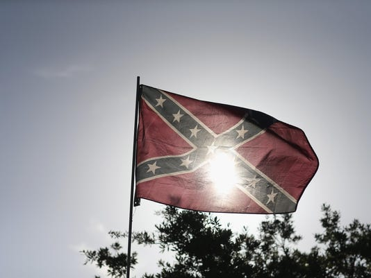 Confederate Flag Supporters Hold American And Southern Flag Rally In Florida