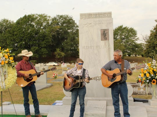 Music is played during Hank Williams birthday observances.
