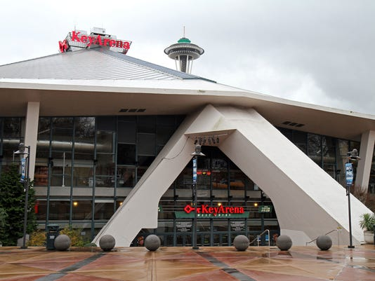 FILE - This is a Dec. 7, 2012, file photo showing Key Arena in Seattle. Seattle will host the WNBA All-Star Game next year. The league announced Wednesday, Dec. 14, 2016, that the game will take place July 22 in the city for the first time.(AP Photo/Gregory Payan, File)