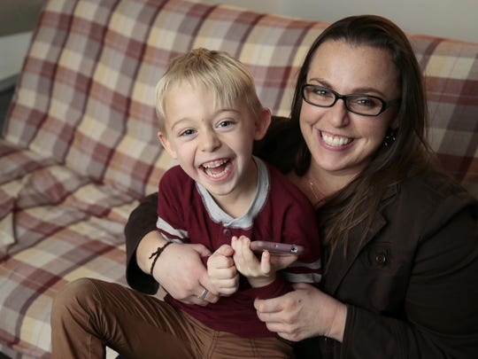 Westwood resident Donna Blanchet and her 4-year-old son Logan just need a little assistance to get back on their feet.