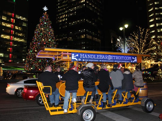 The HandleBar riders enjoy riding around Campus Martius