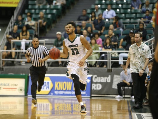 Former Palma High graduate Noah Allen thriving on the court for Hawaii.