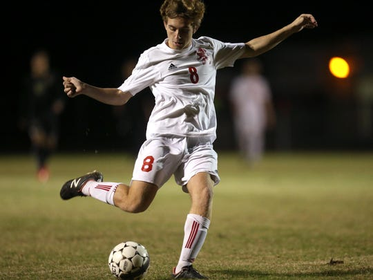 Leon's Jake Kile scored two goals against Florida High, including a game-winner against in the 62nd minute of the Lions' 2-1 win Wednesday.