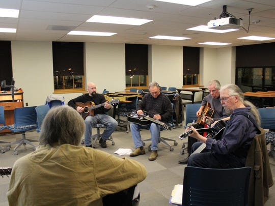 Musicians rock out during Jammonton at Kramer Hall.