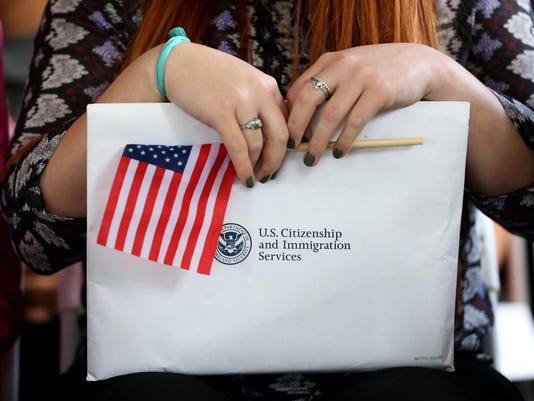 Immigrant Children Sworn In At Florida Naturalization Ceremony