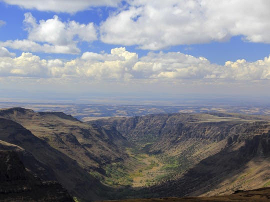 Views of Big Indian Gorge is seen from Steens Mountain