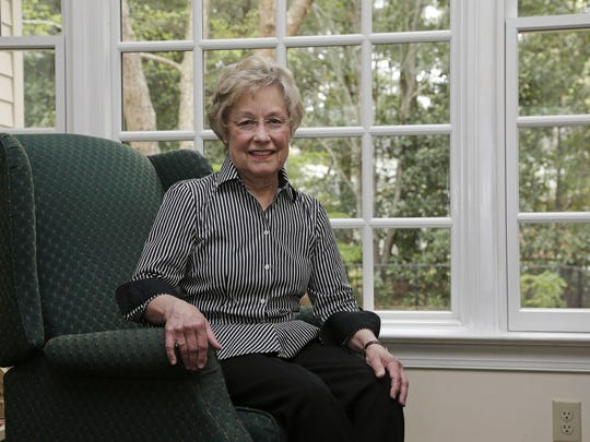 In this photo taken Friday, April 7, 2017, Susan Lassiter poses for a photo at her home in Smithfield, N.C. Lassiter, a member of Concerned Citizens for Successful Schools in Johnston County is worried about how her group will continue to push for equal education opportunities in the local schools if the UNC Center for Civil Rights in Chapel Hill is permanently barred from filing lawsuits on behalf of its clients. (AP Photo/Gerry Broome)