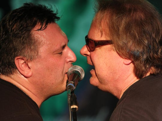 Joe D'Urso and Tony Pallagrosi (right) perform at Rockin Bowl-A-Thon at the Asbury Lanes during the 13th Light of Day music festival in 2013.