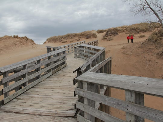 Sleeping Bear Dunes National Lakeshore in northwest Michigan.