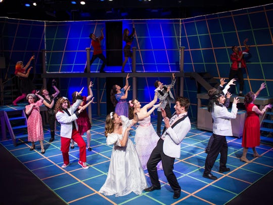 """A Scene from Blackfriars """"The Wedding Singer,"""" performed in summer 2016."""