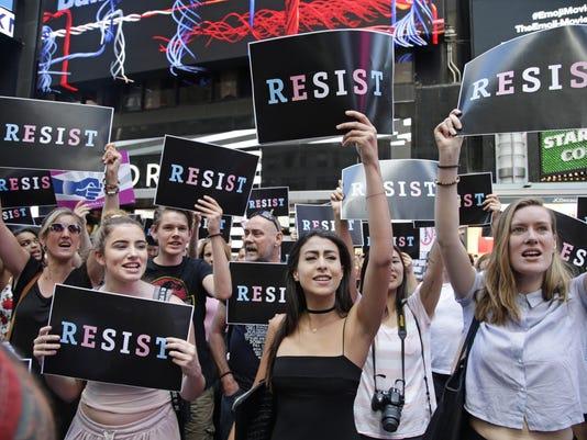 Trump Military Transgender Protest