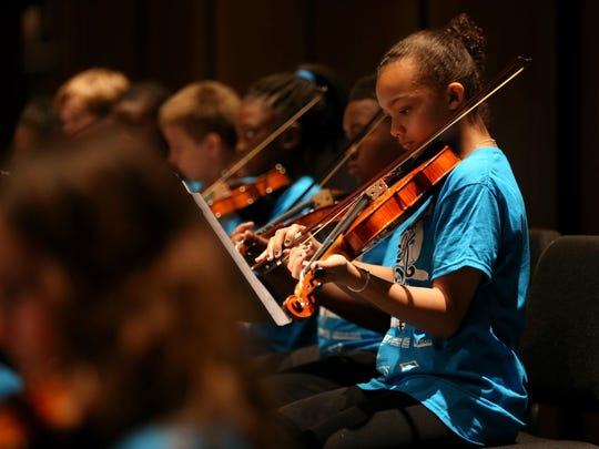The Tallahassee Symphony Orchestra performed with nearly 1,200 fourth-grade students from Leon County Schools at the Ruby Diamond Concert Hall in May.