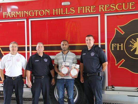 Smoke Alarm Donations from ISKCON