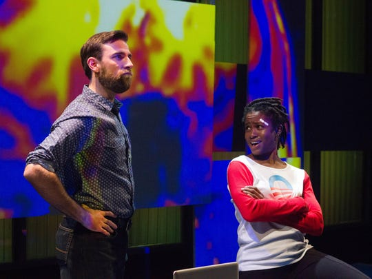 """Jake Lee Smith and Folami Williams star in the Kitchen Theatre production of """"Smart People"""" by Lydia R. Diamond, running through Sept. 24."""
