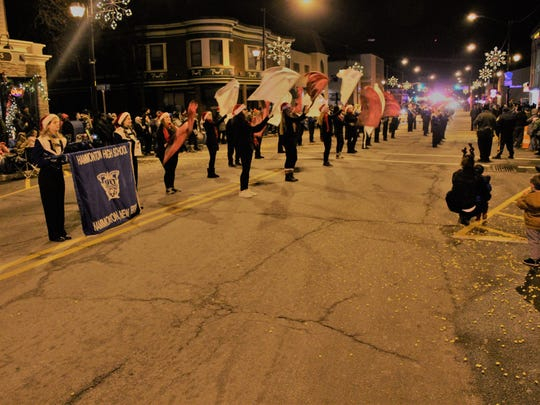 The Hammonton High School Band won first place in the Judges Awards at during the Hammonton Fire Department's Christmas Parade on Sunday night.