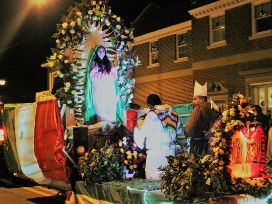 The Our Lady of Guadalupe float won 2nd place in the Best Decorated Non-Fire category during the Hammonton Fire Department's Christmas Parade on Sunday night.