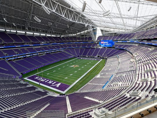 The Super Bowl will be played in  US Bank stadium in Minneapolis on Sunday.