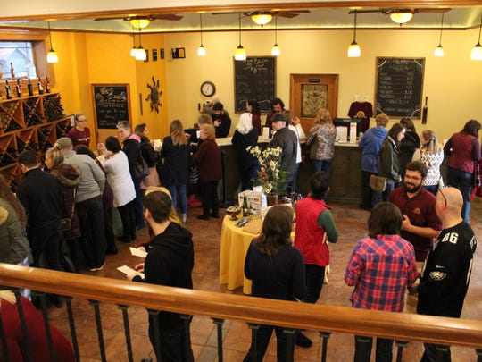 Bellview Winery was packed Saturday afternoon during