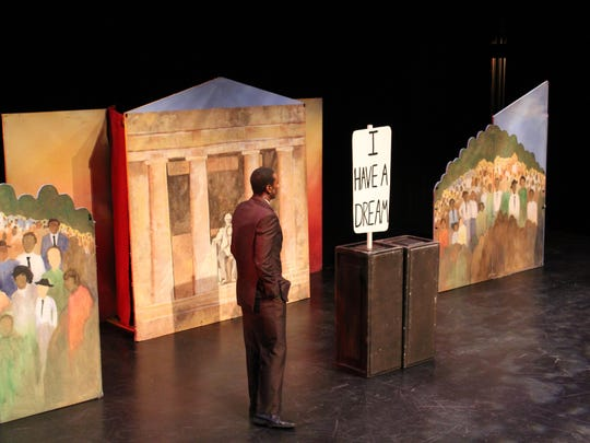 The play closes with a powerful visual image.