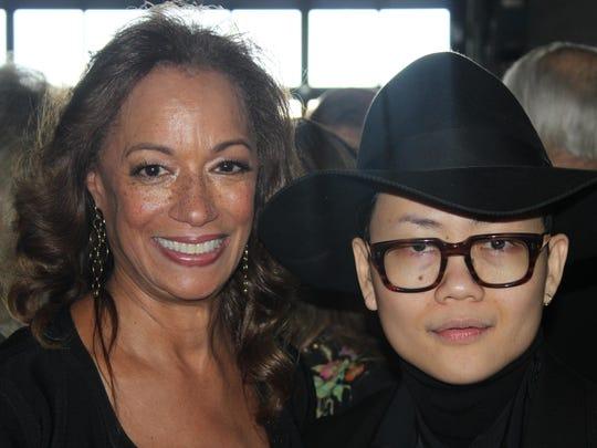 Carmen Harlan, left, and designer PingPong Khumwan