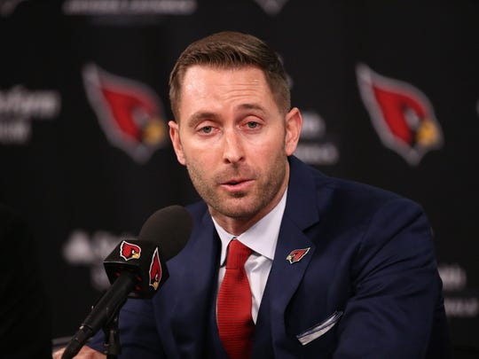 USP NFL: ARIZONA CARDINALS- KLIFF KINGSBURY PRESS S FBN USA AZ