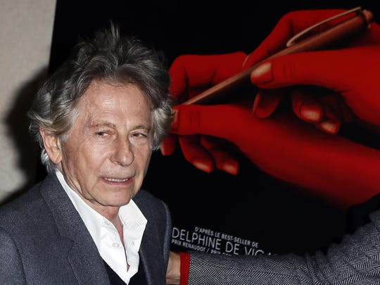 "In this Oct. 30, 3017 file photo director Roman Polanski poses a photo prior to the screening of ""Based on a true story"" in Paris, France."