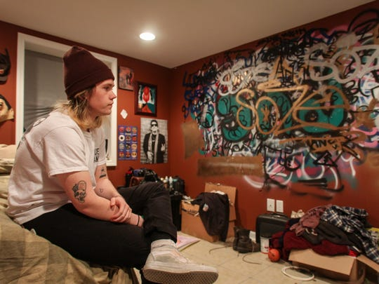 Neptune, NJ Dan McGullum (23), a millennial who recently graduated from Drexel and has a lot of debt. He is living in a furnished room in the basement of his mother's house in Neptune and looking for ways to move on with his career and life. 030515 Photo: Tom Spader/Staff Photographer