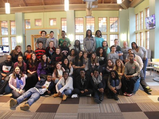 Thirty-five students and five faculty facilitators participated in the MLK Leadership Summit in the Wilf Family Global Commons at The Hun School of Princeton.