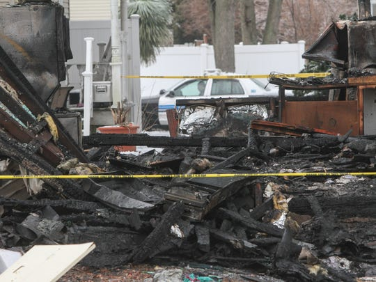 Point Pleasant Beach, NJ House fire and possible gas explosion overnight at 307 Cooks Lane in Point Pleasant Beach. Burn victim transported from the scene.030215 Photo: Tom Spader/Staff Photographer