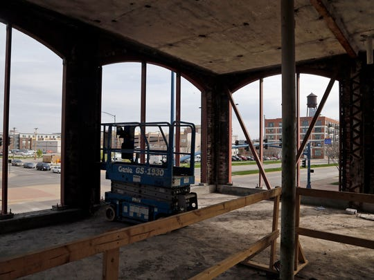 Construction on the second floor of 300MLK, a new commercial building being rehabbed near downtown Des Moines.