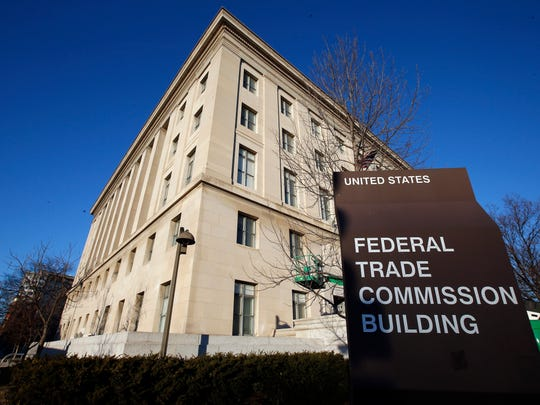 The Federal Trade Commission has seen a surge in complaints relating to scams that started on social media. File photo: Jan. 28, 2015, the Federal Trade Commission building in Washington. (AP Photo/Alex Brandon, File)