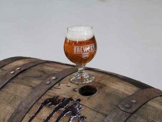 brewery 85 beer on barrel