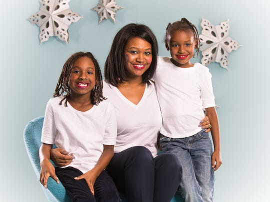 Mali Jeffers and her daughters Sydney (left) and Simone Jeffers.