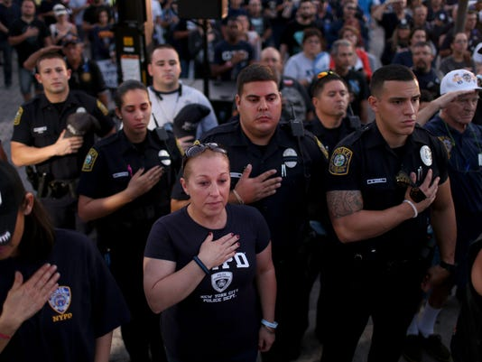 Miami Police Union Holds Rally In Support Of Fellow Officers And Fallen Comrades