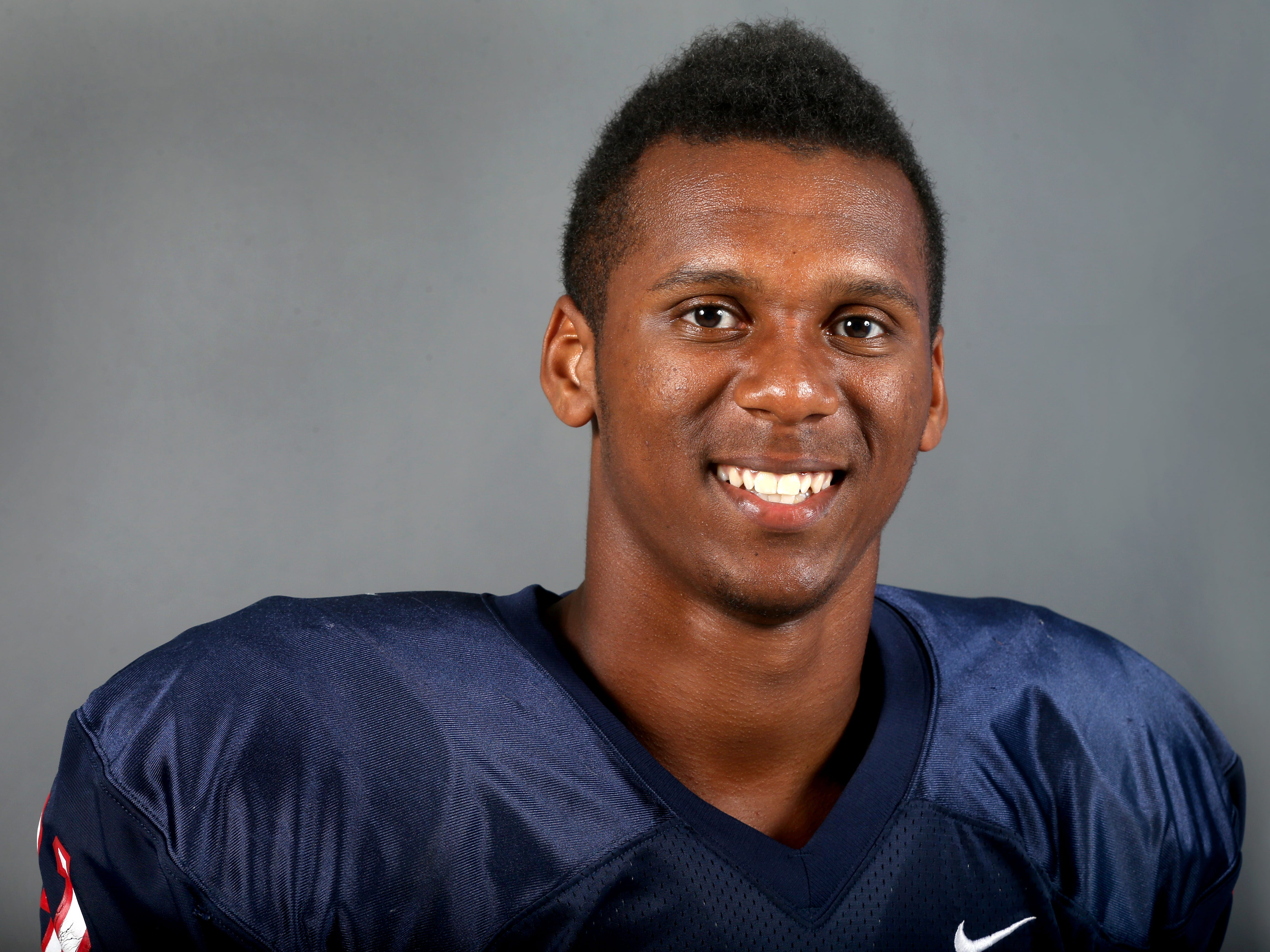 Oakland's Josh Smith, Linebacker, on Saturday August 2, 2014.