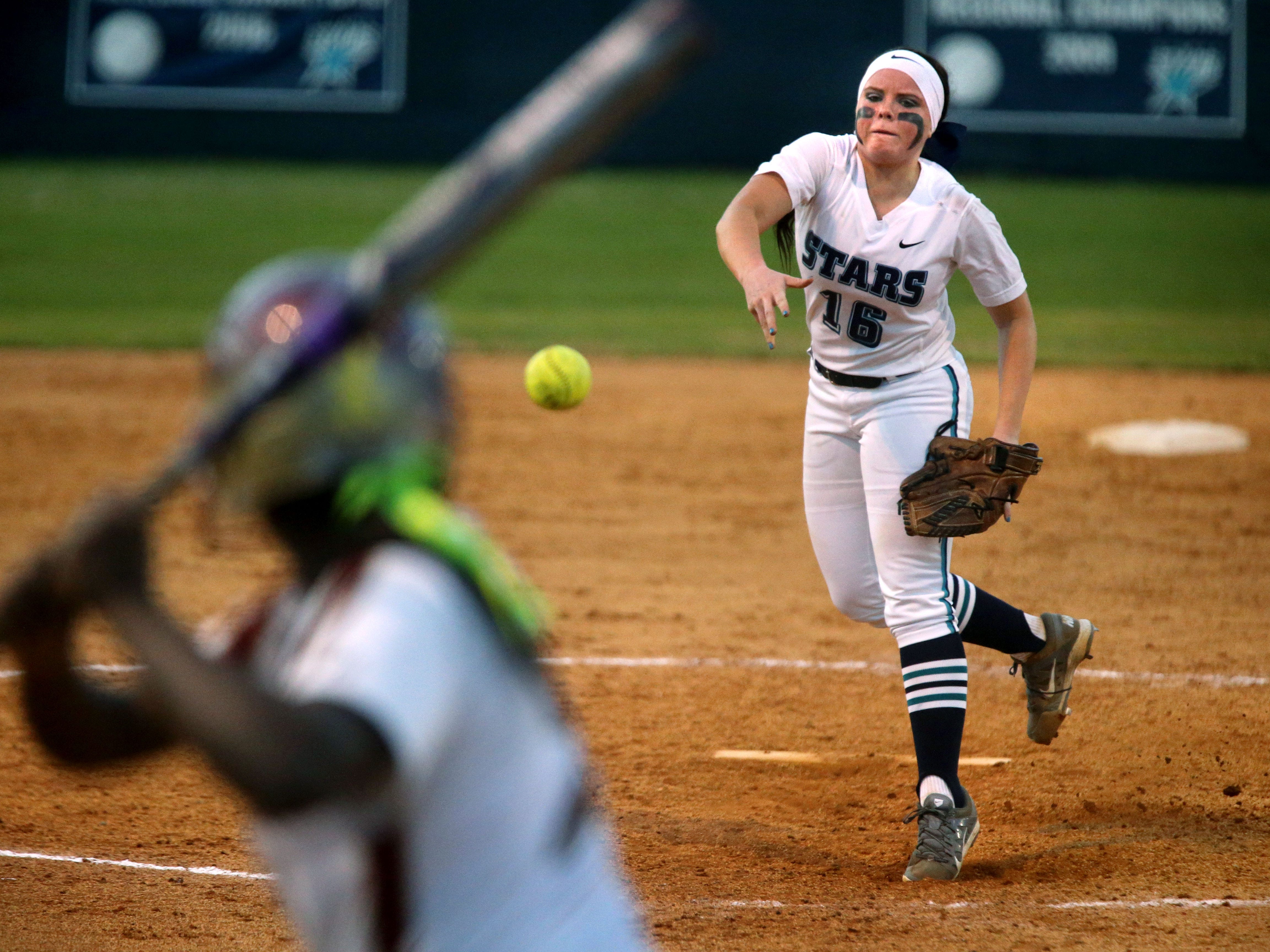 Siegel's Veronica Westfall is 14-1 with a 0.50 ERA this season.