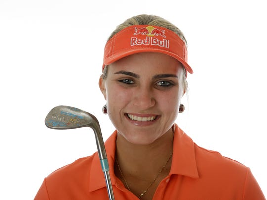 PHOENIX, AZ - MARCH 18:  LPGA player Lexi Thompson poses for a portrait prior to the start of the Founders Cup at the JW Marriott Desert Ridge Resort on March 18, 2014 in Phoenix, Arizona.  (Photo by Ezra Shaw/Getty Images)