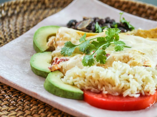 I used the albacore scraps for this delicious albacore enchilada with a Mexican cheese and cream sauce.
