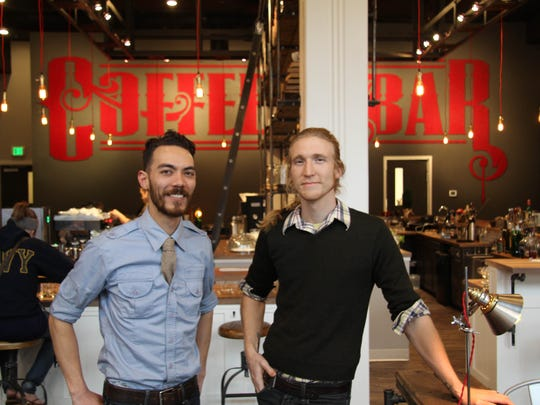 Jesse Hayes (left) and Justin Doyle opened Archive Coffee and Bar in downtown Salem. Archive had a soft opening on Monday and will be having a grand opening on Friday, Dec. 5.