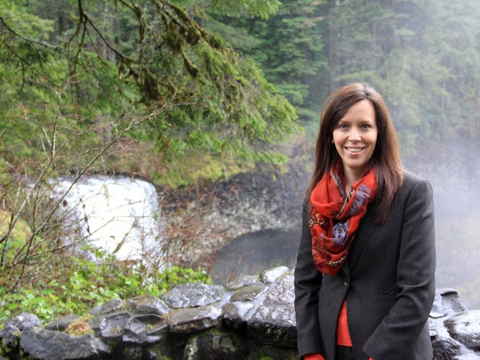 Lisa Van Laanen, Oregon Parks and Recreation Department director, at Silver Falls State Park.