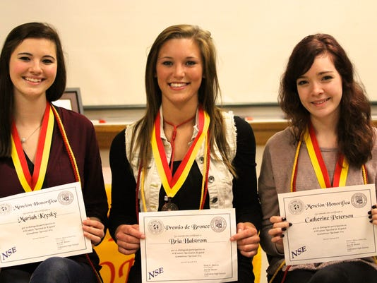 national spanish exam_Mariah Kresky-Bria Halstrom and Catherine Peterson.jpg