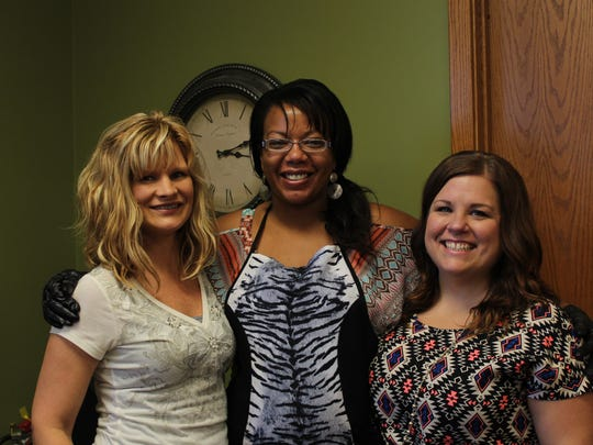 Rhonda Anderson-Steinke, Robin Dickerson and Amber Houck are co-owners of Moxie Salon in Stevens Point.
